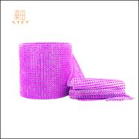 Wedding Favor Lavender Diamond Mesh Roll for Decoration