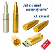 Wholesale Hot! New Metal Enouch Cheap Bullets USB 2.0 Memory stick pen drive 4-32gb, free shipping, usb flash drive 1-32GB