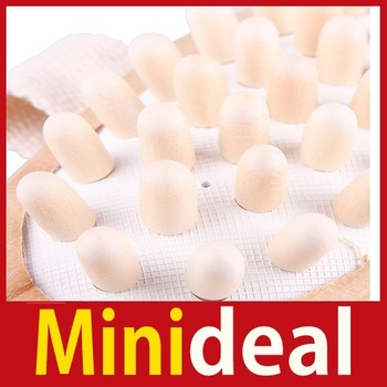 rising stars [MiniDeal] New Comfortable Natural Wooden Hand Held Slimming Massager Anti Cellulite Hot hot promotion!