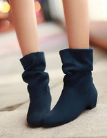 Autumn boots fashion velvet ankle boots two ways snow boots