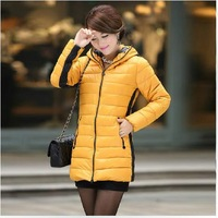 free shipping 2013 new arrival winter fashion down jacket  women  thick overcoat long jacket