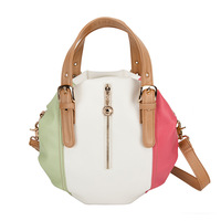 Babe women's fashion handbag women's shoulder bag messenger bag round package color block b1014