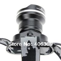 High Quality BORUIT RJ-2155 Black Color Adjustable Cree XM-L T6 1000 -Lumen Bike Light Headlamp (1*18650)+Free Shipping