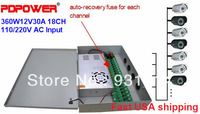 18CH DC 12V 30A CCTV Power Supply Distribution Box  for Security Cameras, CE/Rohs/FCC/IEC & 2-year warranty