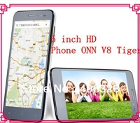 today's deal-Stock 5 inch HD Android 4 2 Phone ONN V8 Tiger 1.5GHz Quad-Core MTK6589T Smartphone