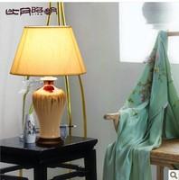 T8 Chinese porcelain lamp bedroom bedside lamp living room Jingdezhen reactive glaze 3099