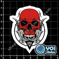 Kl16 punk skull travel bag laptop stickers mobile phone stickers skateboard stickers,free shipping,30% cut off for wholesale