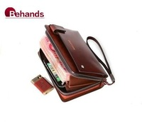 2014 Genuine Leather Wallets High Quality Fashion Wallet Purses Moneybags Cardbags H20102 Wholesale Retails+Free Shipping