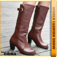 Big Size 34-43 Fashion Women's Knee Boots 2013 XB735 Gladiator Thick Heels Platform Shoes Sexy Buckle Motorcycle Boots for Women