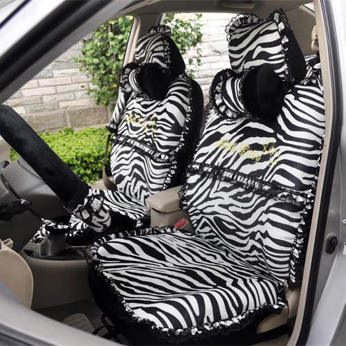 Four seasons general leopard print zebra print car seat cover cartoon plush 19 piece set car seat cover new(China (Mainland))