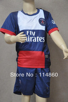 2013-14 Paris Saint Germain PSG home jersey kids soccer jerseys children soccer jersey suit