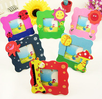 Free shipping,Hot sale! Novelty Magic wood Wooden children baby small cartoon photo frame Picture frame,10pcs/lot