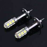 Super Bright White 2 X H1 13LED 5050 SMD Lamps & Bulbs Car Fog Light Bulbs New 1.3W Free Shipping