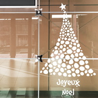 Christmas wall stickers christmas tree circle double faced glass window stickers decoration stickers