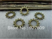Free Shipping 150pcs 12mm Ancient Bronze Alloy Gear Mechanical watches clocks Jewelry Findings & Components