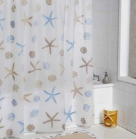 2013 NEW ! 160*180cm PEVA Waterproof Fashion Star Bathroom Shower curtain
