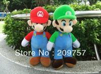 """Wholesale/Retail 2pcs Super Mario Bro. MARIO & LUIGI Plush Soft Doll Toy 17"""" Set"""