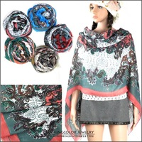 2013 New Fashion Womens abstract national style Scarf large flower print Shawl Long Stole High quality