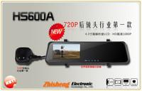 new 6000A Car Rearview Mirror Camera Recorder DVR Dual Lens 4.3' TFT LCD HD 1920x1080p Rear view camera 720P with G-sensor