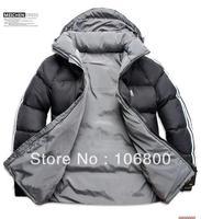 Free shipping Men Double Side Wear Thicken Winter Outdoor Windbreaker Heavy Coats Down Jacket Clothes L XL XXL XXXL