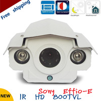 Free shipping!2013 NEW  1/3inch SONY CCD outdoor waterproof IR HD cctv camera 800 tvl with Array led 50m night vision