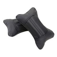 Bamboo charcoal leather headrest car headrest kaozhen neck pillow bone pillow car pillow a pair of