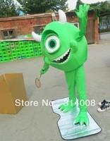 Wholesale FREE SHIPPING Mike Wazowski mascot Costume Cartoon Character Costume mascot cosplay Custom Products customized