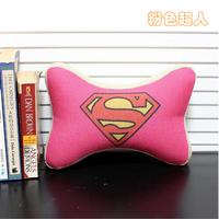 Cartoon pink super man car pillow neck pillow memory cotton thickening fluid bone pillow car