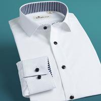 Deepocean male shirt 2014 shirt male long-sleeve white 100% men's casual cotton clothing