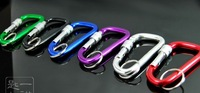 factory price  aluminum alloy keychain / sport buckle / alloy buckle /key buckle retail