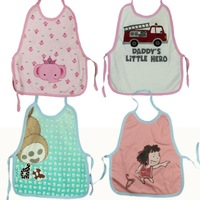 Cartoon vest bibs child bib baby bib 100% cotton baby rice pocket cartoon bibs