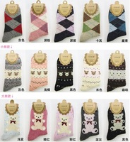 Cotton and Wool Lady and women Warm Winter Socks & Color random