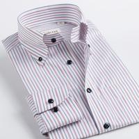 Deep sea deepocean shirt male long-sleeve stripe buckle easy care cotton 100% men's clothing