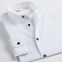Deep sea deepocean shirt pointed collar stripe fashion long-sleeve shirt slim male