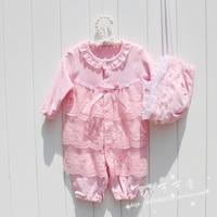 Baby bodysuit romper princess formal dress pink newborn clothes