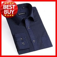 2013 F/ W   Men's  Cotton Non-iron  Long Sleeve Round Dot  Business Dress Shirt G1910  SIZE S-3XL