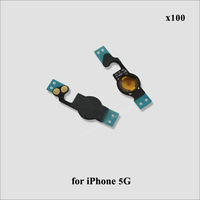 50pcs/lot Home Button Flex Cable for iPhone 5 5G free shipping