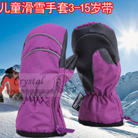 Professional child ski gloves waterproof windproof 20 thermal gloves baby fingerless gloves no2