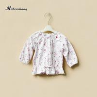 Infant children 2013 autumn female child top long-sleeve T-shirt basic shirt