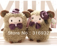 J1 Wholesale children's doll fashion Sheep lovers couple stuffed  toys, color Olive green