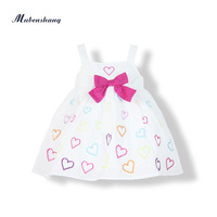 Female summer infant child multicolour suspender skirt 100% cotton 2013 children's clothing summer embroidery