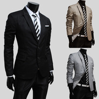 Jogal male casual blazer plain fashion slim casual men jacket small suit 9302