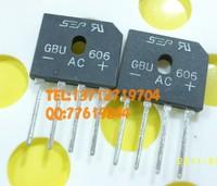 6Amp600KV Metal Case Bridge Rectifier gbu606 gbu6j New and original 20pcs/lot Free Shipping