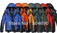 2014 New Arrival Male Outdoor Casual Man Down Coat Velvet Cap Down Jacket Waterproof Thermal Warm Winter Jacket Down Parkas