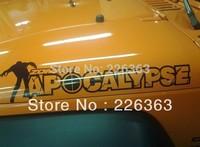 2x Zombie Apocalypse Decal Sticker Edition Wrangler Rubicon CJ TJ YK JK XJ Vinyl
