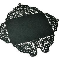 Byears lace cutout paper envelope set 5 transparent opp flat pocket