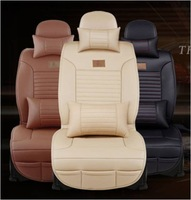 Fedex or EMS price Front and Bench set soft leather car seat cover leather set for 5 seat cover universal cars,Black/Buff/Brown