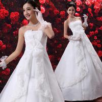 2014 wedding formal dress waistline maternity sweet princess wedding dress bridal wear