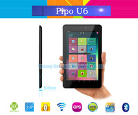 Free Shipping PIPO U6 Tablet pc 7 inch IPS 1440x900 pixels RK3188 Quad Core 1.6GHz 1GB RAM 16GB ROM Wifi HDMI GPS 5.0MP Camera