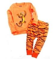 Baby Pajamas Set Children Pyjamas, ,children 2-7 years clothing set Children Sleepwear Tigger suit